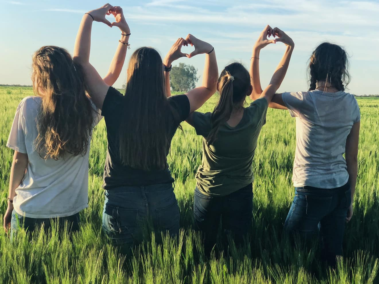Mädchen-Teenkreis