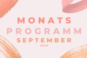 Monatsprogramm September 2020